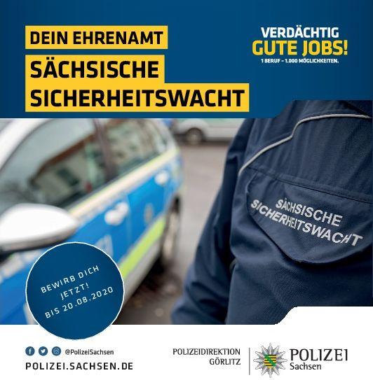 Neubestellung von Angehörigen der Sächsischen Sicherheitswacht